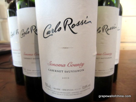 carlo rossi sonoma county cabernet sauvignon 2011 for china market