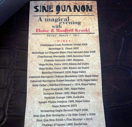 links concept sine qua non wine dinner menu