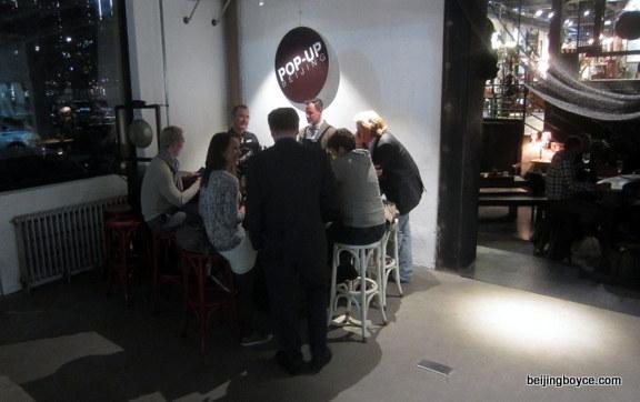 Wine bar at Pop-Up Beijing