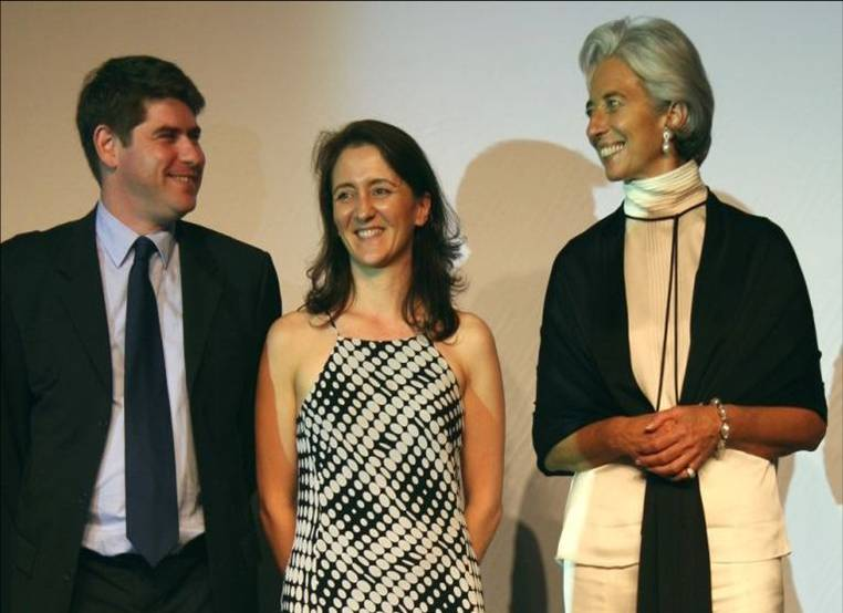 DCT Wines Frederic and Barbara Choux with French Finance Minister Christine Lagarde in China