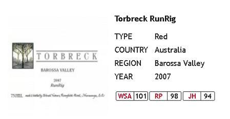 wine shop asia 100 point wines torbreck runrig 2007