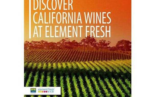 Element Fresh California wine promotion image