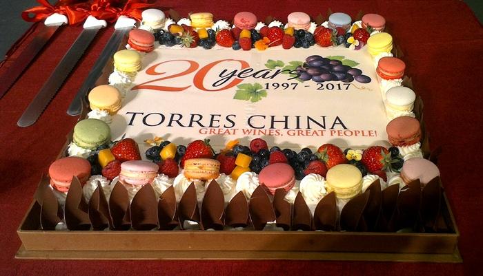 torres china 20th anniversary beijing cake